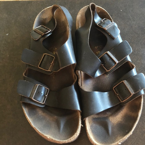 93ac7d509b79 Birkenstock Other - Black Men s Birkenstock Milano with Back Strap